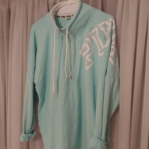 Victoria's secret PINK quarter zip (AQUA)
